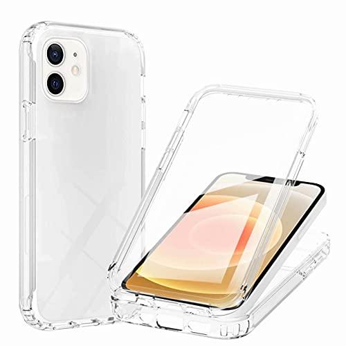 """Nadoli pour iPhone 11 6.1"""" Coque,360 Degré Tout Le Corps Double Cuche Antichoc Transparente Etui Housse avec Protecteur d'écran Intégré"""