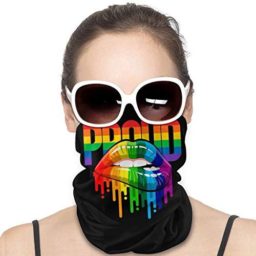 Lgbt Pride Lips Black Fashion Summer Neck Gaiter Face Scarf/Neck Cover/Face Cover for Sun Hot Summer Cycling Hiking Fishing