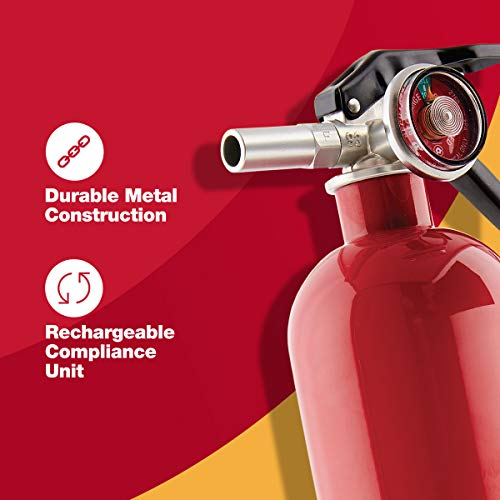 First Alert Fire Extinguisher | Garage Fire Extinguisher, Red, Garage10 FE10GR