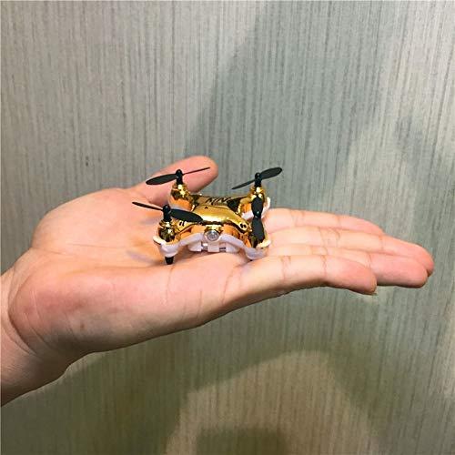Ycco Mini Super Micro Nano Quadcopter RC Nueva Duradero UFO Aviones no tripulados con focos de LED 2.4G Canal Gyro 3D Eje del Truco de la Vuelta Flips (Sólo 5 cm x 2,5 cm) ( Color : Yellow. )