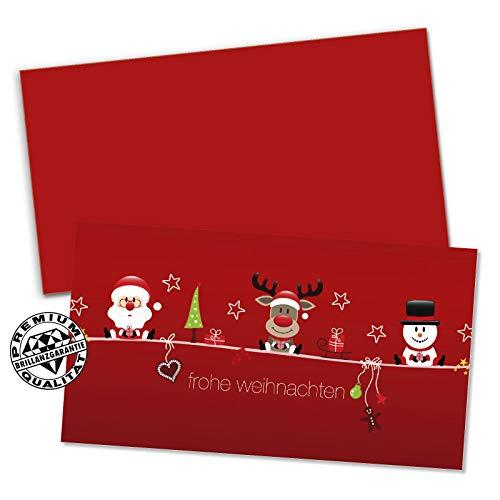 10 hochwertige Gutscheinkarten + 10 Kuverts. Gutscheine für Weihnachten x-mas Christfest. Gutschein für Kunden. Vorderseite hochglänzend. X1232