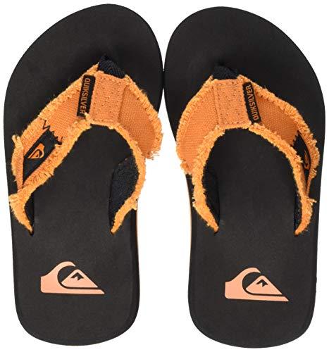 Quiksilver Monkey Abyss Youth, Zapatos de Playa y Piscina Hombre, Naranja (Black/Orange Xknn), 36 EU