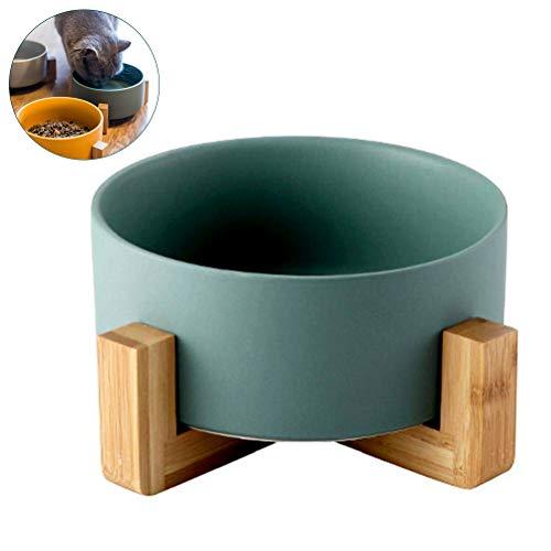 Bankaa Futternapf aus Keramik mit Holzrahmen, verbesserte Fressnapf