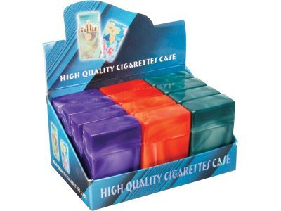 Flip Top Marbled Cigarette Case (Box of 12) (For King Size Only)