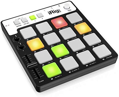 IK Multimedia iRig Pads Portable Universal MIDI Groove Controller for Apple iPad, iPhone, iPod Touch, Mac and PC-Black