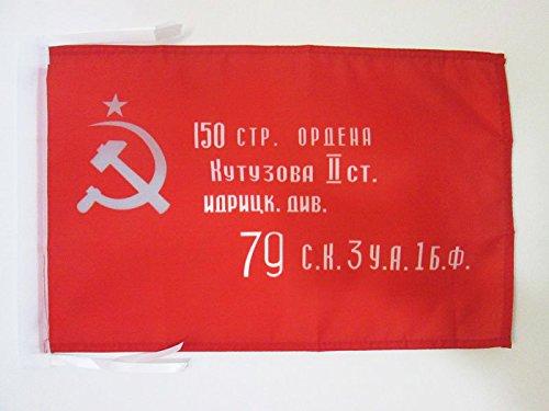 AZ FLAG Flagge ROTE Armee DER UDSSR Sieg VON 1945 45x30cm mit Kordel - SOWJETUNION BAUERNARMEE Fahne 30 x 45 cm - flaggen Top Qualität