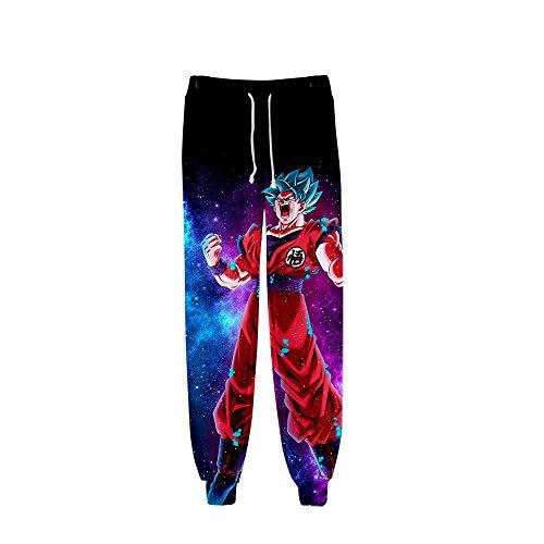 Oowjj Dragon Ball Anime Jogginghose Hose Cosplay Kostüm Sport Jogging Lange Hose mit Taschen