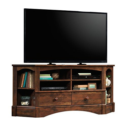 "Sauder 420471 Harbor View Corner Entertainment Credenza, For TV's up to 60"", Curado Cherry finish"