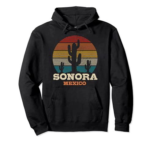 Sonora México Cactus Vintage Souvenir Sudadera con Capucha