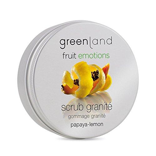 Greenland Scrub Granité Papaya Zitronen | 200ml Verwöhnendes Gesichts Peeling & Body Peeling in einem | 100% Veganes Peeling mit einzigartiger Textur