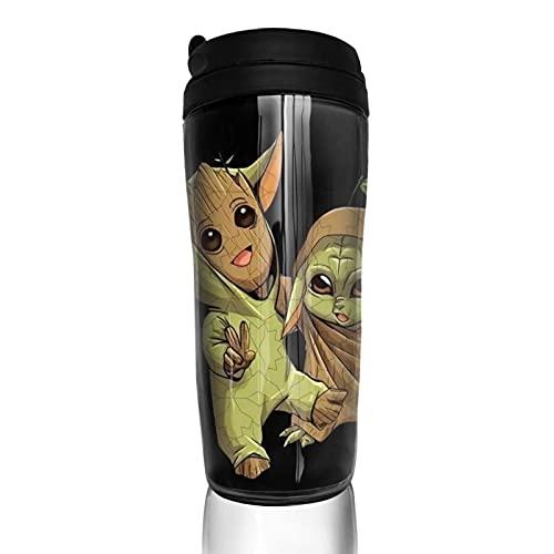 Baby Yoda Groot Taza de café reutilizable aislada taza de viaje para bebidas frías calientes 12 oz/350 ml