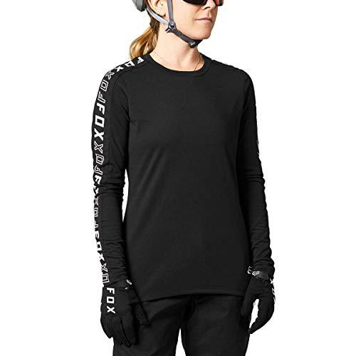 Fox Racing Damen Women\'s Ranger DRI Release Long Sleeve Jersey T-Shirt, schwarz, Klein