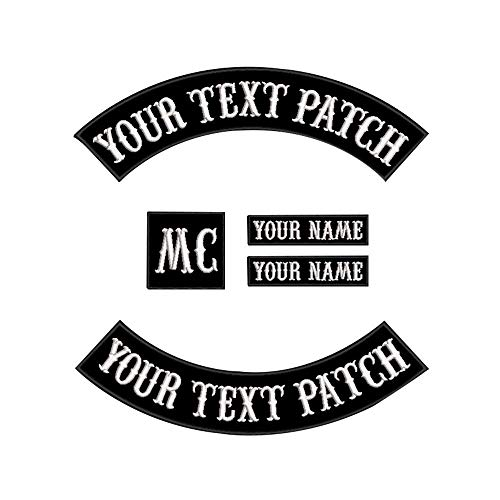 Custom Patch Weste Biker Motorrad Rocker Name Patches for jacket black on black
