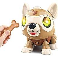 Masefu DIY Electronics Interactive Smart Robot Pet Dog with Bone