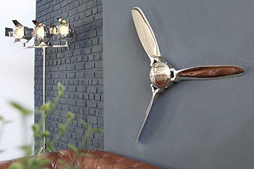 Licht-Erlebnisse Deko Wand Propeller 90cm Alu Loft Industrie Massiv