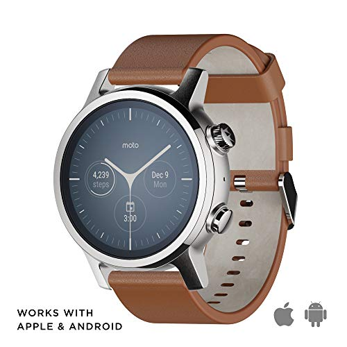moto smartwatch Motorola Moto 360 3a Generazione Smartwatch – Cassa in Acciaio Inox con Cinturino da 20 mm