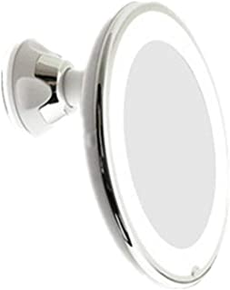 LED Lighted Makeup Mirror Flexible (7X and 10X) Magnifying Illuminated,Bathroom Vanity Mirror with Strong Suction Cup 360 Degree Swivel Compact Travel Mirror(White) for Bathroom