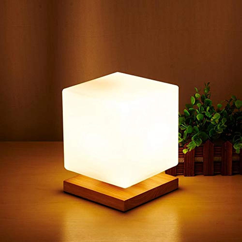 ZHAOHUIFANG Tischlampe, Warme Nachttischlampe, Modernes Minimalistisches Schlafzimmer, Quadratischer Schreibtisch, Kreative Tischlampe, 1-dimmerswitch
