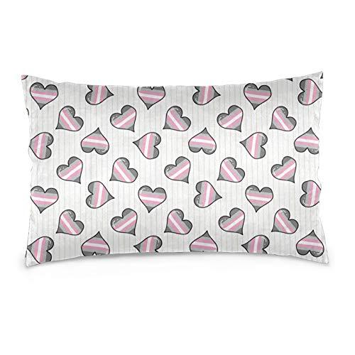 BLACK SP Cute demigirl Heart Pillowcase Fashion Throw Pillow Cover Bed Cushion Cover 20 x 30 inches