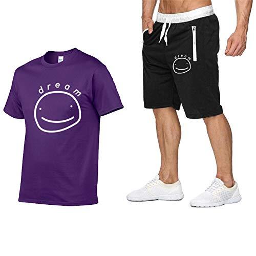 GIRLXV Polo De Hombre Dreamwastaken Camiseta De Rendimiento De Secado Rápido Y Traje De Hombre Estampado De Manga Corta M