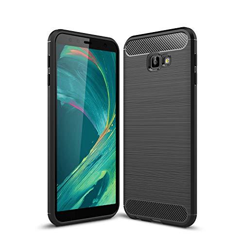 AOBOK Hülle für Samsung Galaxy J4 Core, Schwarz Karbon Erscheinungsbild Elastisch Stylisch Soft Flex TPU Silikon Handyhülle Schutz vor Stürzen & Stößen Schutzhülle für Samsung Galaxy J4 Core Smartphone