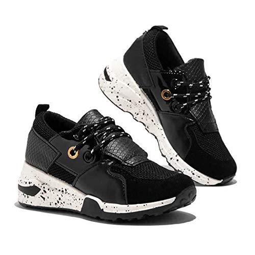Zapatillas Casuales Para Mujer De Un Solo Zapato Primavera Y Otoño Cortando El Talón De Pendiente De Sol Grueso Zapatos De Mujer 41 Negro