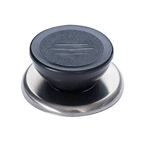 DDyna Pot Pan Lid Cover Circular Holding Knob Screw Handle Universal Kitchen Cabinet Handles & Knobs - Black