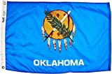 Annin Flagmakers Model 144350 Oklahoma Flag Nylon SolarGuard NYL-Glo, 2x3 ft, 100% Made in USA to Official State Design Specifications