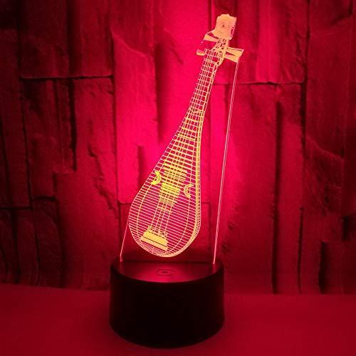 Xiaolaji 3D Iluminación Lámpara De Ilusión De Máscara De Halloween 7 Colores Dormitorio Infantil Decoración Del Hogar Regalo De Navidad Para Niños