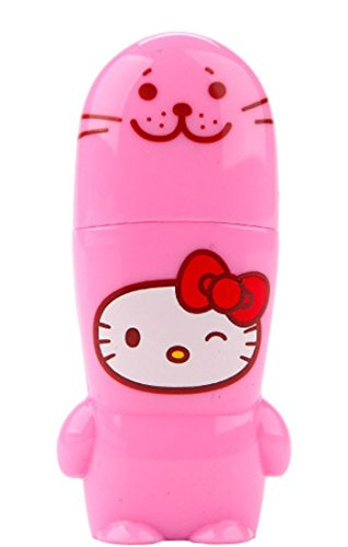 8GB Pink Seal Hello Kitty Loves Animals x MIMOBOT Designer USB Flash Drive with bonus preloaded Mimory content, Limited Edition by Mimoco