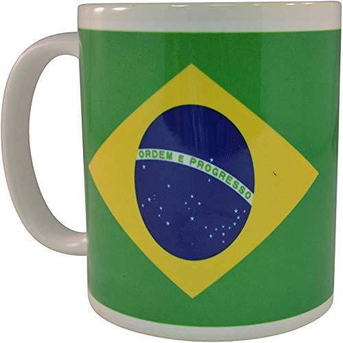 Bandera brasileña Taza de café Taza de la novedad Gran idea de regalo para hombres Mujeres Brasil
