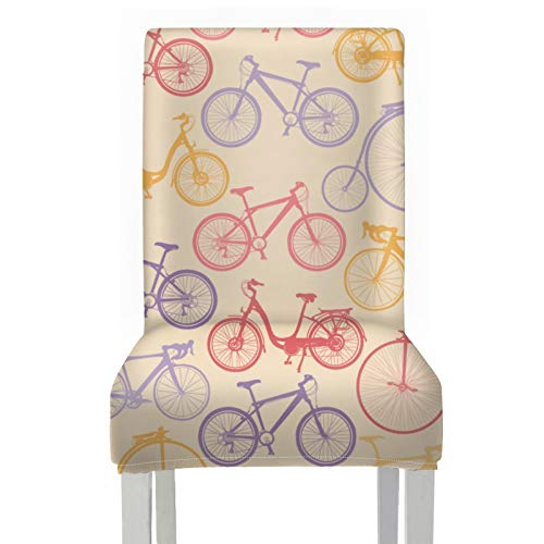 ModernDiningChairCovers Excited Art Sports Competition Cycling ChairStoolCover Polyester Stretch Removable Washable KitchenChairSeatCushionCovers For Home Kitchen Party Restaurant Wedding