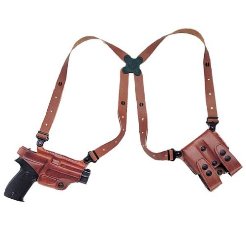 Galco Miami Classic Shoulder System for S&W J Frame 640 Cent 2 1/8-Inch .357 (Tan, Right-Hand)