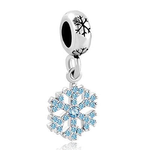 jewelryhouse copo de nieve con cristales de imitación Lucky bead charms