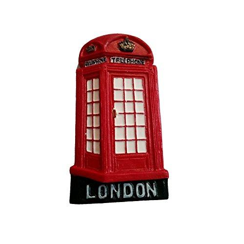Más vendidas #1 tamaño grande de teléfono londinense británica UKTelephone de cabina de teléfono de cabina de teléfono Coleccionable de poliresina UK Souvenir cierre magnético! Souvenir/Speicher/pendolare rovatese! De tamtam Design, Multicolor British UK Coleccionable de imán! Un movimiento-of-A-tipo de Londres souvenir! Diseño con texto en/Cierre magnético/Magnete/Imán!