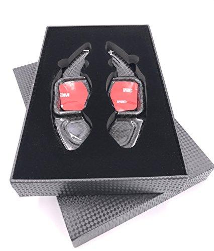 H-Customs DSG bascule Shift Paddle Extension Palettes de Commande alu anodis/é noir pour F20 F30 F18