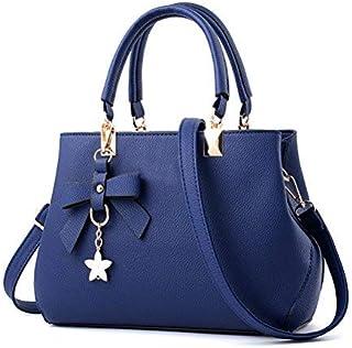 URAQT Damen Handtasche Schulterbeutel,PU Leder Damenhandtaschen Frauen Stilvolle PU Schultertasche Taschen Umhängetasche G...
