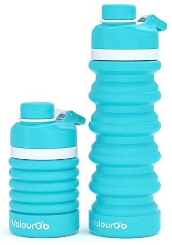 ValourGo Botella de Agua Plegable Silicona sin BPA, a Prueba de Fugas,...