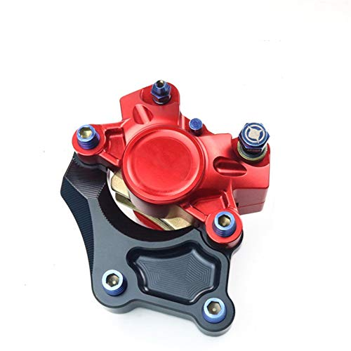 WBBFC Brake Caliper with Adapter kit Suitable for Most Motorcycle Models (Color : D4 Link Code red)