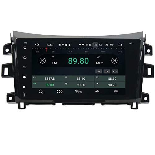 ROADYAKO Android 8.1 Auto Media pour Nissan Navara 2016 Autoradio Stéréo avec Navigation GPS 3G WiFi Lien Miroir RDS FM AM Bluetooth