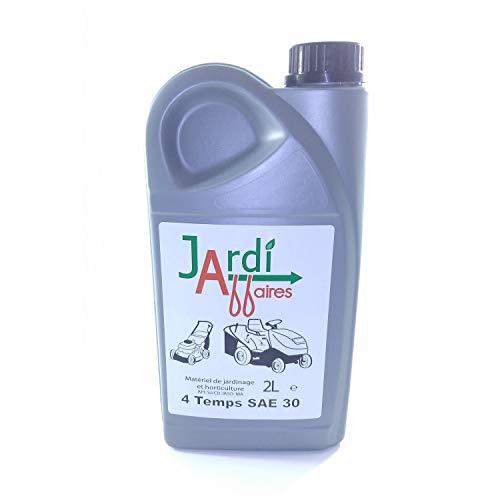 Huile moteur 4 temps SAE30 professionnelle Jardiaffaires 2 litres