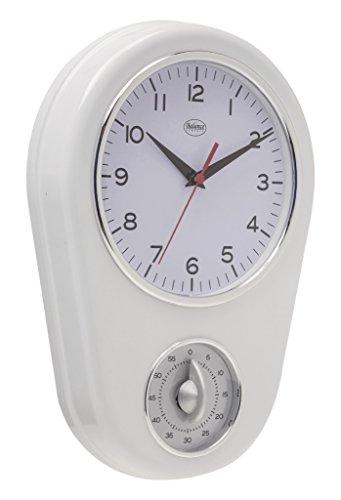 Balance 776924 Mechanical Wall Clock Oval White Wall Clock – Wall Clocks (AA, White, Plastic, 310 mm, 310 mm, 31 cm)