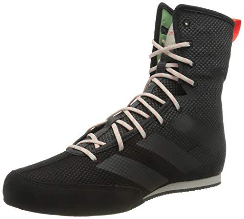 adidas Box Hog 3, Zapatillas de Gimnasio para Hombre, Core Black Grey Six Solar Red, 38 EU