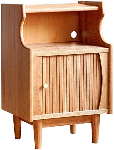 KAYBELE Mesa de Noche de Madera Maciza de Happyl Muebles de depósito de Muebles japoneses Simple Casillo de Almacenamiento Caja de depósito de cabecera Sofá Gabinete Lateral Mabador de revistas