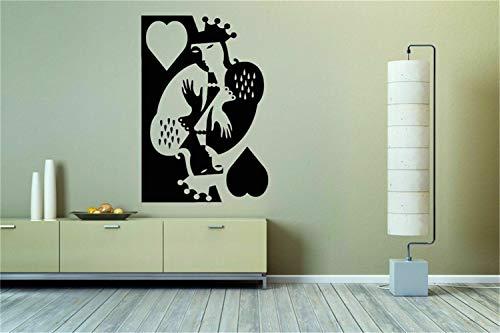Wandtattoo Wohnzimmer Videospiel Dekor Gaming Decals Wandkunst Aufkleber Zimmer Aufkleber Wandbild Dekor Kunst Kartenspiel Hearts Queen