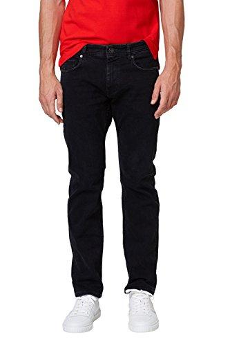 ESPRIT Herren 998EE2B810 Straight Jeans, Schwarz (Black Dark Wash 911), 30W / 34L