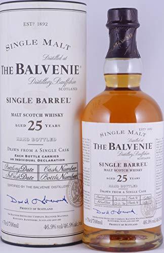 Balvenie 1974 25 Years Cask 15190 Single Barrel Highland Single Malt Scotch Whisky 46,9% Vol. - eine von nur 250 Flaschen!