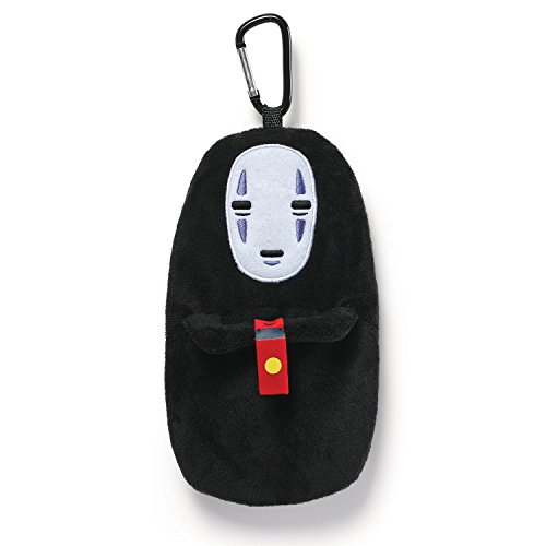 GUND Spirited Away No Face Stuffed Plush Backpack Clip Pouch, 8'