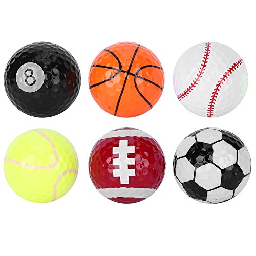 6-teilige Golfbälle, Verschiedene Ballmuster Golfbälle für das Golf-Trainingstraining Zubehör Golfgeschenk
