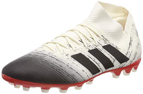 adidas Herren Nemeziz 18.3 AG Fußballschuhe, Weiß (Off White/Core Black/Active Red Off White/Core Black/Active Red), 42 2/3 EU